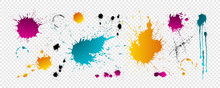 Color Blots With Drops