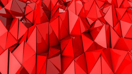 red deformed three-dimensional plane. abstract background. 3d render