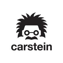 Einstein Head Face With Car Logo Design Template
