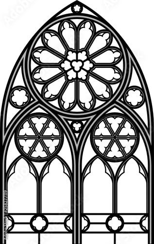 Fotografie, Obraz Gothic tracery, Arnstadt, Germany, 34.14