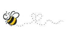 Biene, Hummel Malt Herz In Die Luft