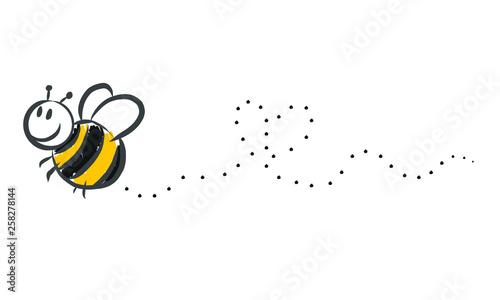 Foto Biene, Hummel malt Herz in die Luft