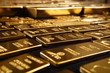 canvas print picture - Hundreds kilos of gold stolen during war in Europe found on unknown place