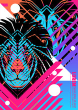 Cover With Design Of Lion's He...