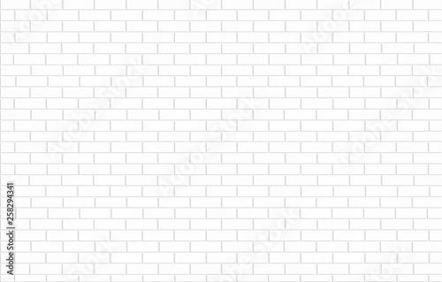 Fotografiet white brick tile wall ceramic texture for background