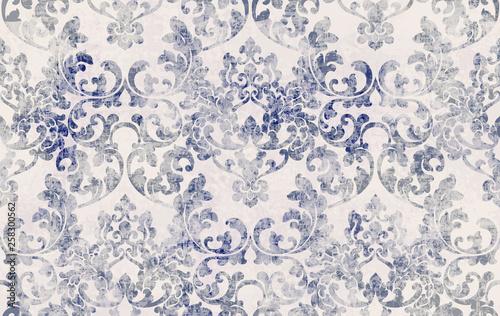 Rococo texture pattern Vector Fototapete