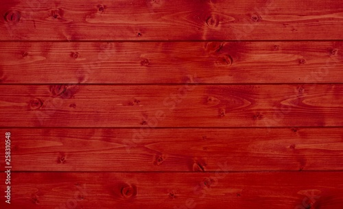 Holztextur mit roten Brettern