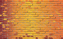 Shiny Orange Brick Wall - Illu...