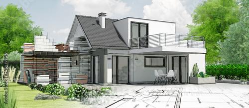 Fotografia Esquisse de maison par architecte