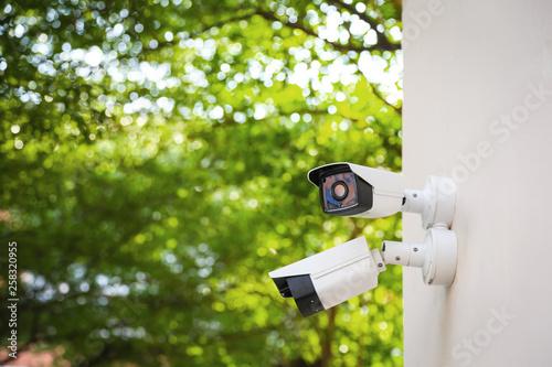 Fototapeta Outdoor waterproof ip security surveillance video camera.