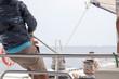 Sailing on catamaran in Denia Alicante Spain