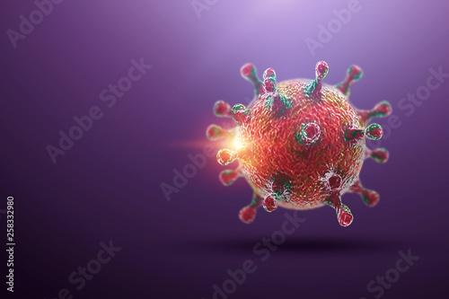 Creative Background Virus Molecule Close Up In The Body