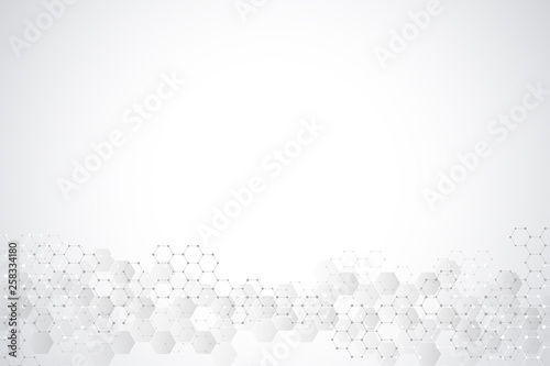Stampa su Tela  Abstract background of science and innovation technology