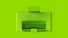 Lime Green Office Desktop Printer 3d Illustration 3d Render