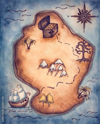 Fotografija Pirate map