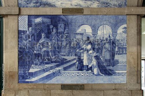 Canvas Prints Artistic monument Sao Bento railway station (Porto - Portugal)