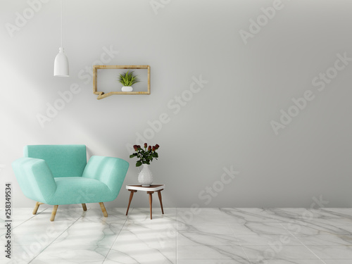 Living Room Interior Wall Mock Up With Sofa Multi Colored Pastel