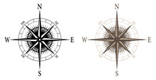 Compass, Isolated Vector Illus...