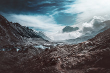 Desolate Moody Mountain Valley