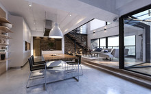 Luxury Open Plan Living And Dining Room