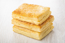 Stack Of Puff Pastry With Suga...