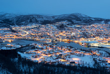 Aerial View Of Harstad City Th...