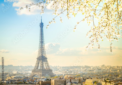 eiffel tour and Paris cityscape