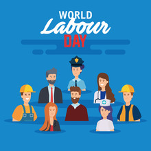 Happy Professional Employers To Labour Day