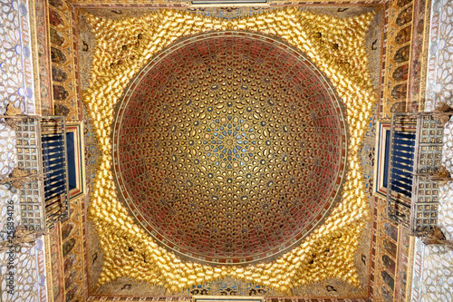 Dome of Real Alcázar de Sevilla, Andalusia, Spain