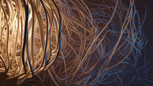 Sci-fi Abstract Concept 3d Illustration. 8k UHD Size Render
