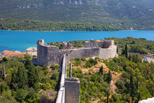 Old Medieval Fort In Ston, Cro...