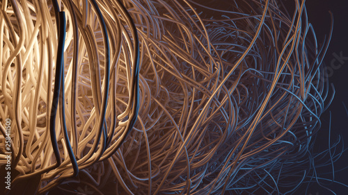 sci-fi abstract concept 3d illustration. 8k UHD size render - 258411500