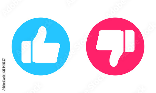 Thumbs up and thumbs down icons Wallpaper Mural