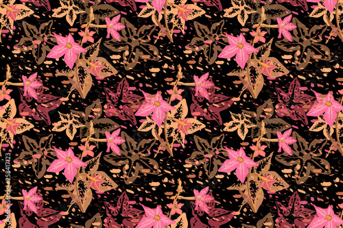 sztuka-wektor-kwiatowy-wzor
