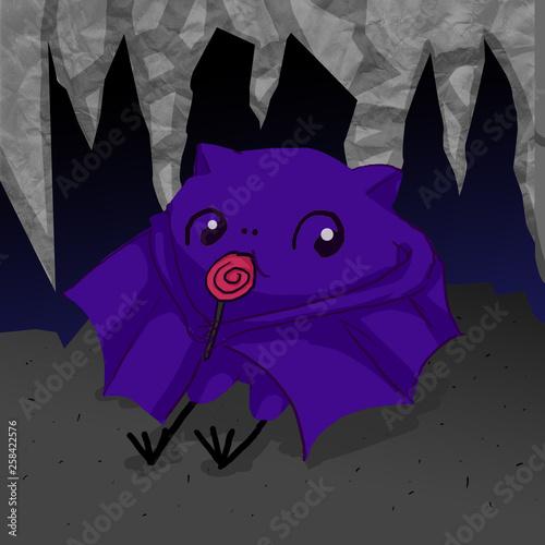 Canvas Prints Fairytale World Cute Bat