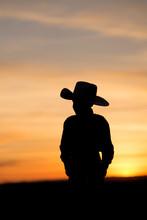 Child Cowboy Silhouette
