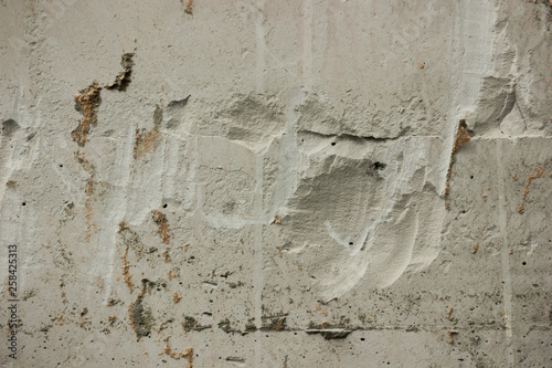 Deurstickers Oude vuile getextureerde muur Gnarled surface of plastered wall. Background