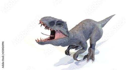 Photo  indominus rex walk of backgorund, 3d render