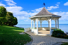 White Gazebo Along Lake Ontari...