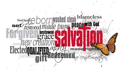 Salvation word montage with...