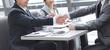 handshake business partners over the desktop. concept of partnership