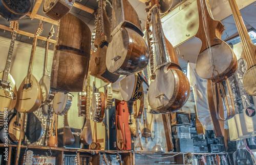 Fotobehang Muziekwinkel Music store