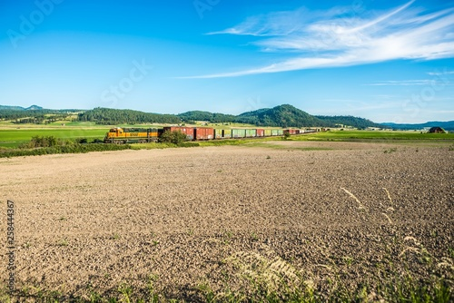 Fotografie, Obraz  wide open vast montana landscape in summer