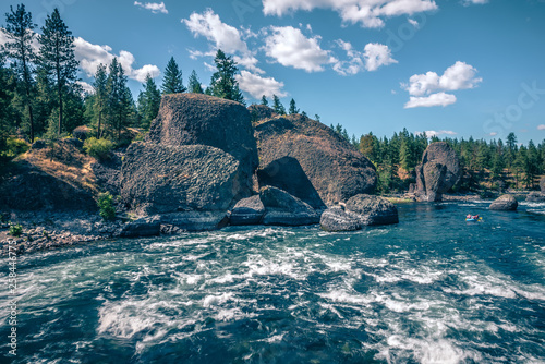 Fotografiet At riverside bowl and pitcher state park in spokane washington