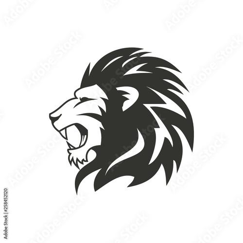 Fototapety, obrazy: Heraldic lion logo design.