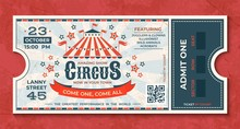 Circus Tickets. Vintage Carniv...