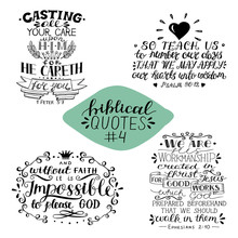Hand Lettering Collection Number 4 With 4 Bible Verses.