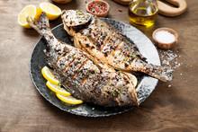 Delicious Baked Dorado Or Sea Bream Fish With Lemon .