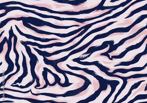 Seamless Zebra Pattern - 258475181