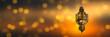 Leinwanddruck Bild - hängende lampe vor abstraktem hintergrund